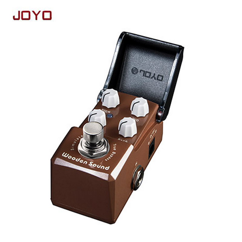 Guitar Effect Pedal Acoustic Simulator JOYO Ironman Wooden Sound  guitarra stompbox for accompany fingerstyle free shipping aroma adr 3 dumbler amp simulator guitar effect pedal mini single pedals with true bypass aluminium alloy guitar accessories
