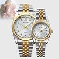 Модные наручные часы для влюбленных  роскошные золотые парные часы для женщин и мужчин  водонепроницаемые светящиеся часы montre connectee
