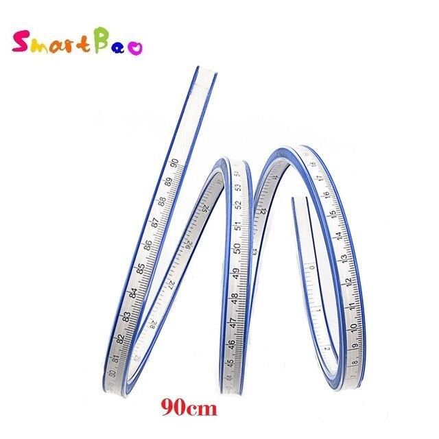 90 cm Meten Flexibele Curve Heerser Tool voor Crafting Opstellen PatchWork 35 Inch