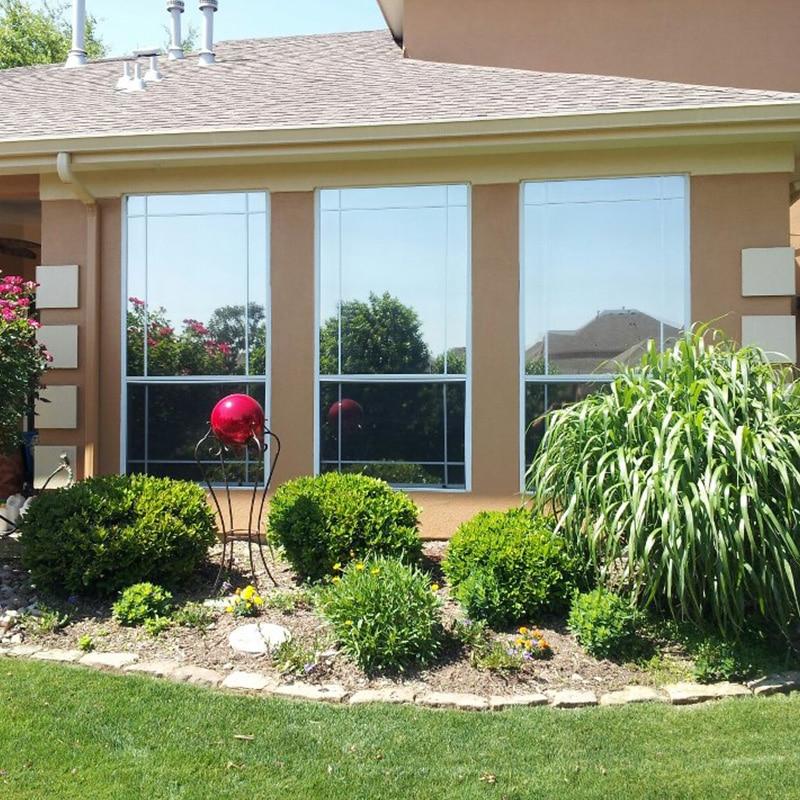 40/50/60/70/80/90x100cm Mirror Silver Solar Window Film Insulation UV Reflective One Way Privacy Car Home Office Decoration