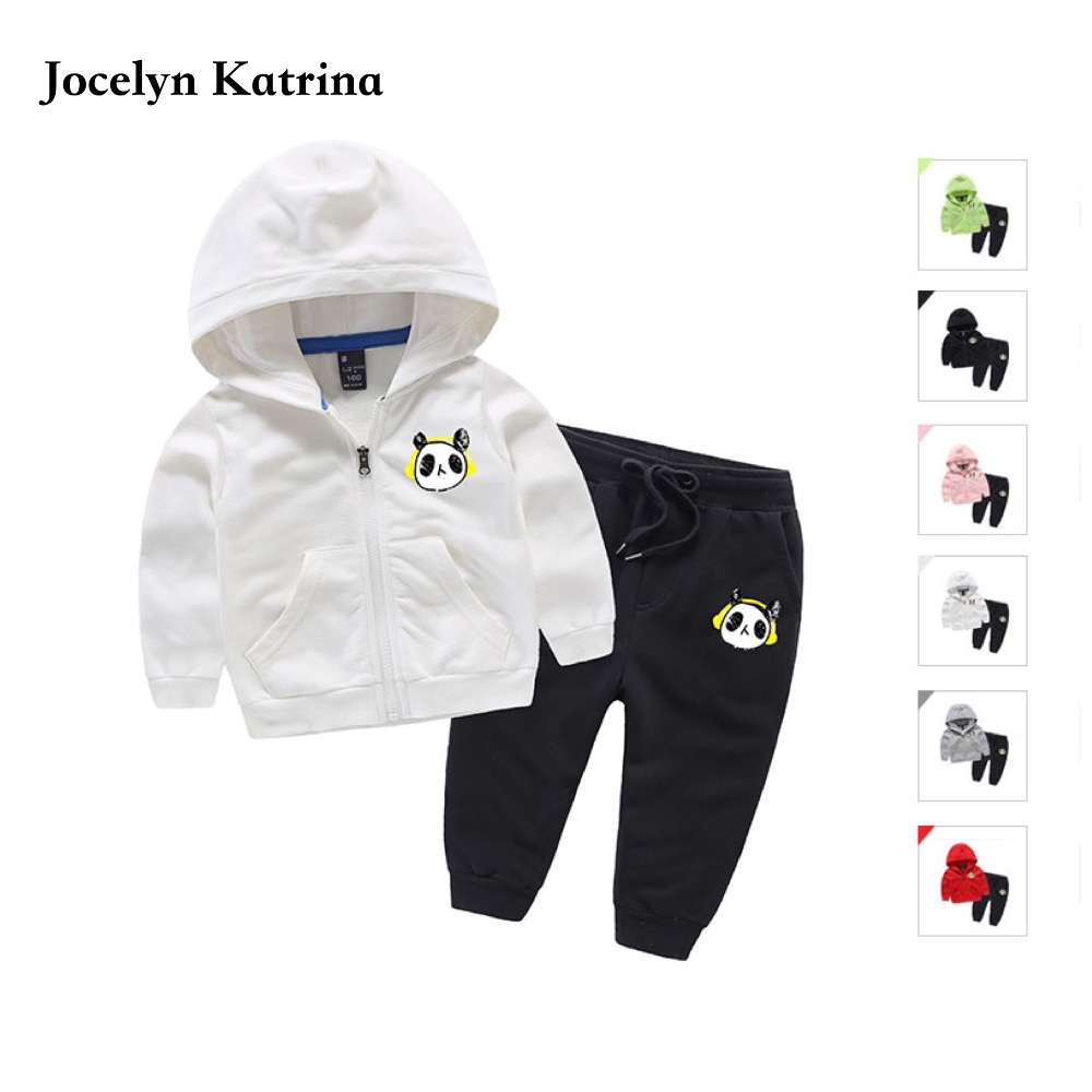 Jocelyn Katrina Kids 2017 3-10Y Baby Boys Spring Hoodied Coats And Jackets Pants Set Children Clothing Set Sports Suit For Boy