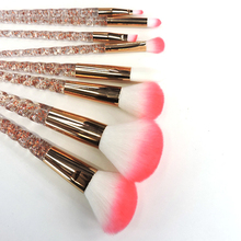 Rose Gold Glitter Crystal 8Pcs Unicorn Makeup Brush Set