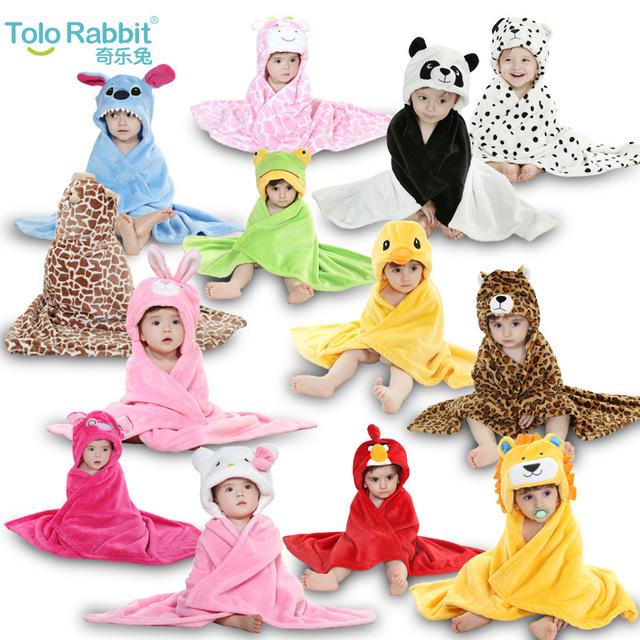 Cobertores do bebê animal dos desenhos animados molda sair para xale manto unisex Falan Rong cobertores banho do bebê de 0-2 anos Olá Kitty toalha