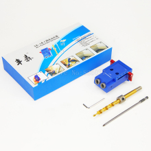 "Mini Kreg Style Pocket Hole Jig Kit System For Wood Working & Joinery with 3/8"" inch 9mm Step Drill Bit & Accessories CP526"