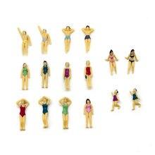 Teraysun wholesale 100pcs 1;50 sand beach scale model swimming figure min plastic human