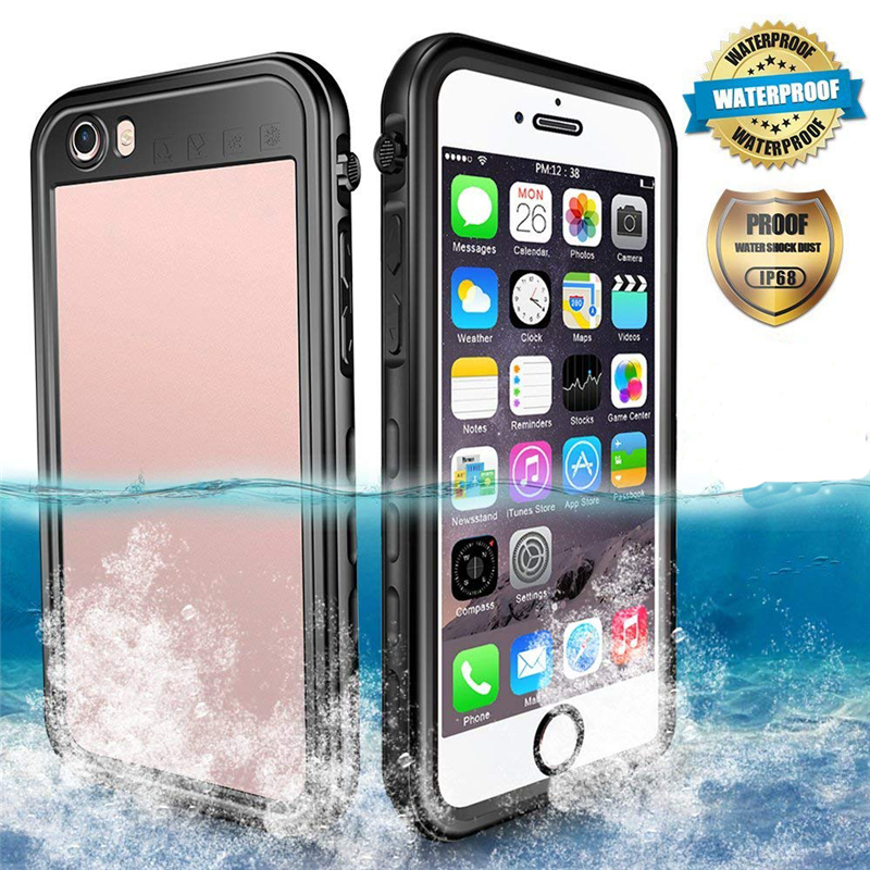 Full Coverage Water Resistant Waterproof Case For coque iPhone 8 7 6s Plus Underwater Swimmig Diving Take Picture Cases