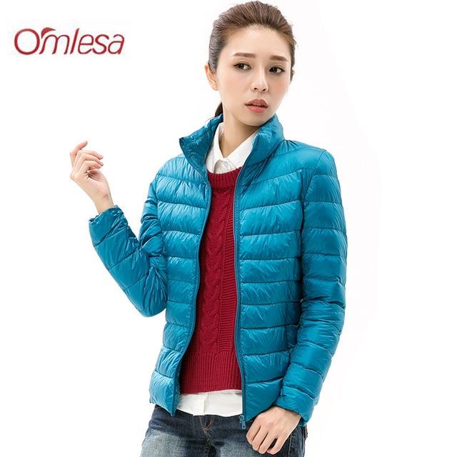 82a788429fcb5 OMLESA Ultra Light Duck Down Jacket Women 2017 Autumn Winter Short Hooded Plus  Size Thin 90% Down Coat Women Parks Outwear YR406