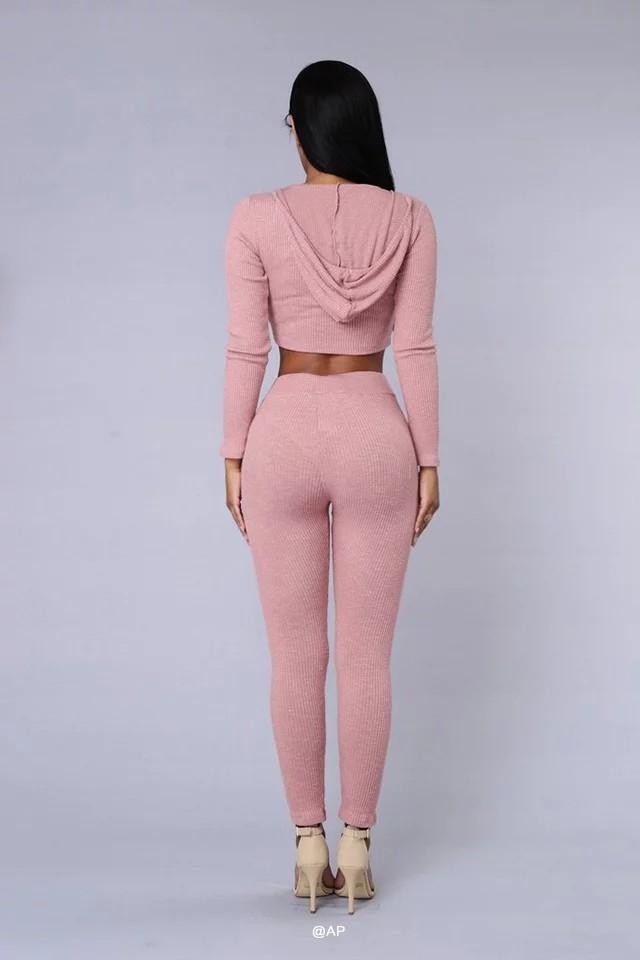HTB17.STNFXXXXa.aXXXq6xXFXXXh - Tracksuit Women Sexy Ribbed Hoodies Set Casual Long Sleeve JKP055