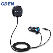 CDEN Handsfree Bluetooth Car Kit MP3 Player For USB Charger Support Siri 3.5mm Aux Carkit