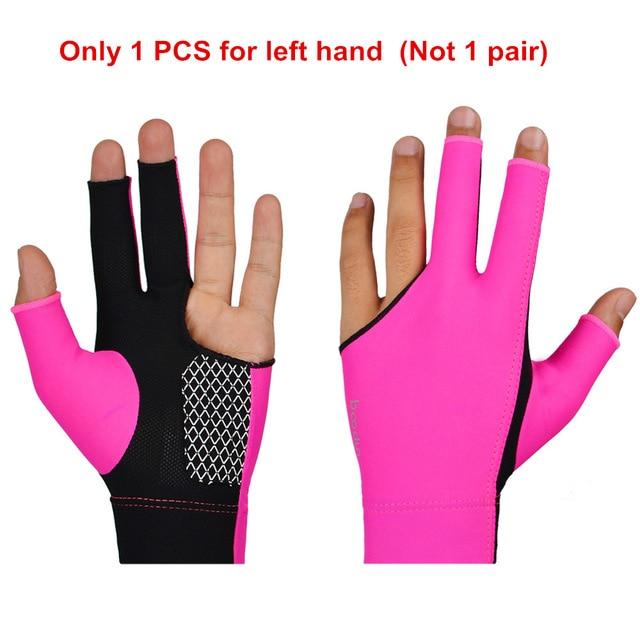 1 sztuka BOODUN mężczyźni kobiet basen rękawice bilardowe dla lewej ręce Lycra oddychające antypoślizgowe rękawice Snooker akcesoria bilardowe