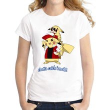 "New Fashion Women Pokemon ""Gotta Catch Em All"" T-shirt"