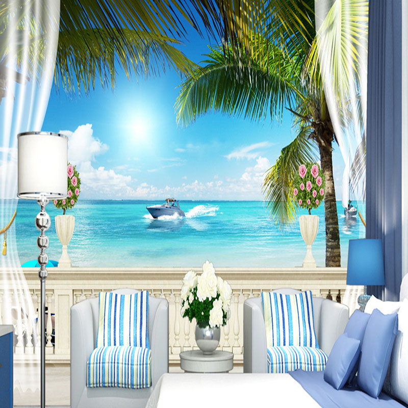 Custom any size 3d room landscape wallpaper modern Kitchen screensaver
