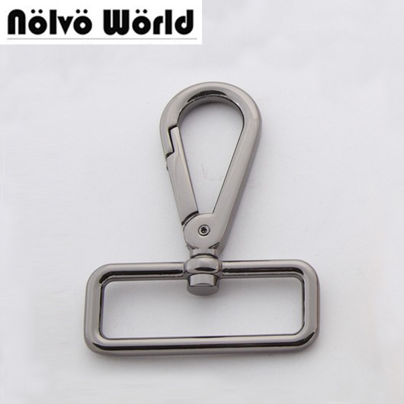 Big size gun black color snap hook 38mm(1 1/2 inside) high quality metal zinc die casting hardware for bags hooks 5pcs lot high quality 2 pin snap in on off position snap boat button switch 12v 110v 250v t1405 p0 5
