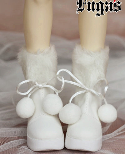 White Warm Snow Boots for BJD 1/6 YOSD 1/4 MSD, SD10 SD13 Super Dollfie Luts DOD AS DZ Doll Shoes SW10 кукла bjd luts 1 4 bjd sd kid delf bory