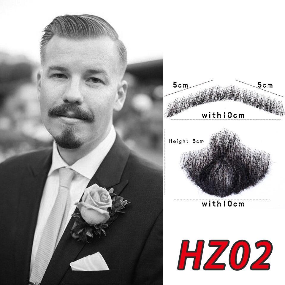 feito à mão remy cabelo humano barba