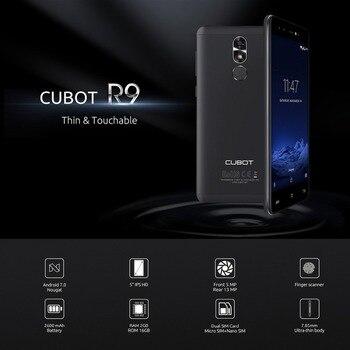 CUBOT R9 MTK6580A 3G Smartphone Android 7.0 5.0 IPS 1280x720 HD Screen Quad Core 2GB+16GB 13.0MP Camera Fingerprint Cellphone smartphone