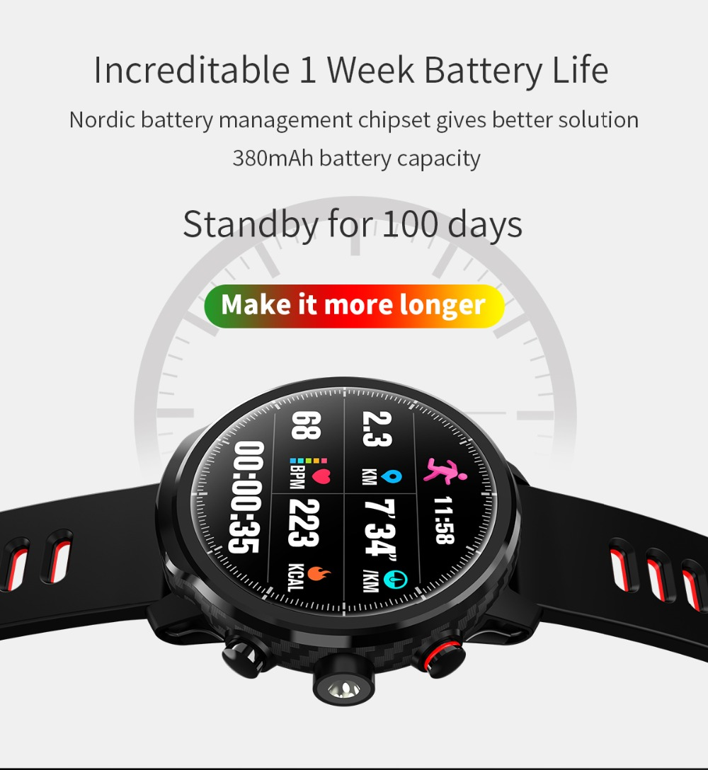LEMFO L5 IP68 Waterproof Smart Watch For Men With Sports Mode Heart Rate Monitoring And Weather Forecast 5