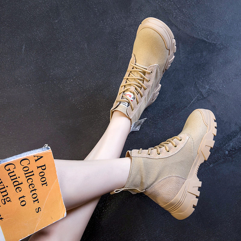 High Help Martin Boots 2019 New Wild Leather Women 39 s Shoes Desert Boots New Retro High Help Women 39 s Boots in Ankle Boots from Shoes