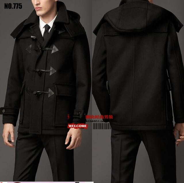 europa capucha invierno nuevo suelta con Hot 2015 abrigo lana 2015 q6xzBwt0