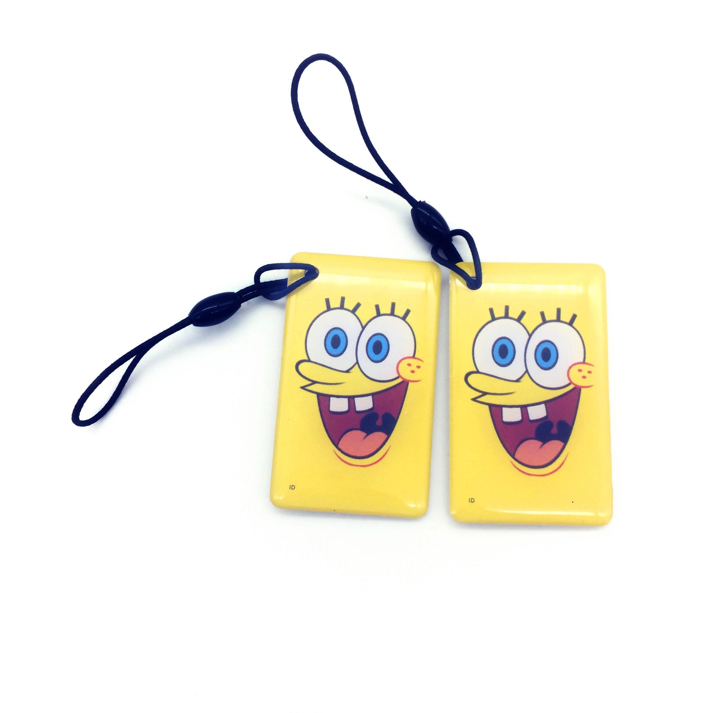 Güvenlik ve Koruma'ten Erişim Kontrol Kartları'de 10 pcs 125 khz Rfid Anahtar Fobs Jetonu Anahtarlık Anahtar Etiketi Keyfob EM4305 Yeniden Yazılabilir Boş Kart Jetonu Etiket Akıllı biletleri soyunma tuşları title=