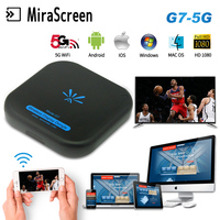 TV Stick Mirascreen G7 5Ghz High Speed WiFi Display TV Dongle Screen Mirroring Support Miracast Airplay DLNA for Apple Android