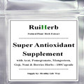 Super Suplemento Antioxidante com Açaí, romã, mangostão, Goji, Noni & Berries Ervas Cápsula de 500 mg x 180 pcs frete grátis