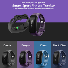 font b Smart b font wristband Bracelet Bluetooth heart rate monitor fitness OLED touch screen