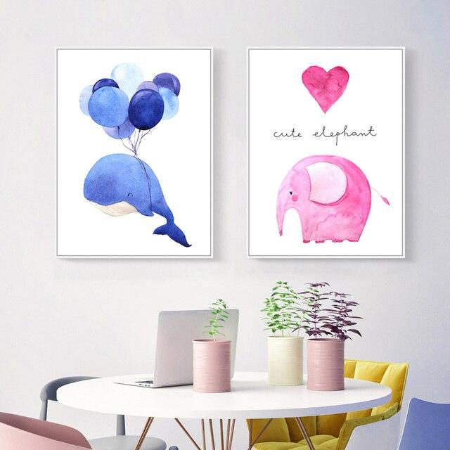 Moderne Abstrakte Tiere Kunst Leinwand Poster Drucken Poster Wand Bild Kein  Rahmen Kinderzimmer Poster Nordic Decorativos