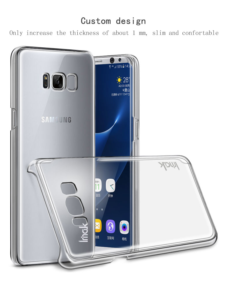 f46658fe25a Original Imak for Samsung Galaxy S8 Plus Case Cover Transparent Clear Hard  PC Back Cover 115054 115056