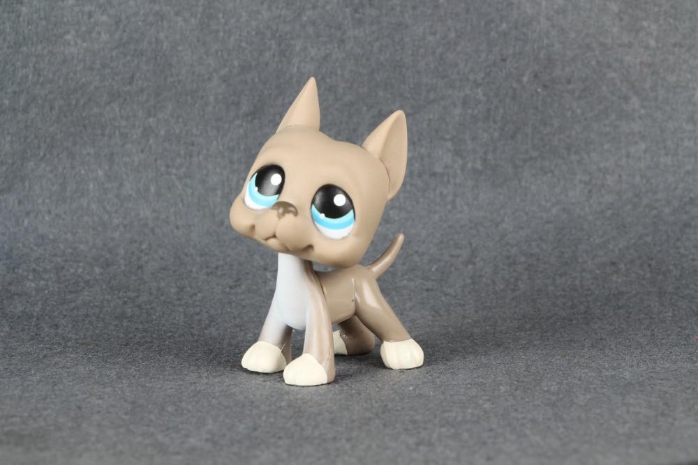 Lovely Pet Collection LPS great dane dog #184 Orig pet great dane 817 bis brown dog blue eyes