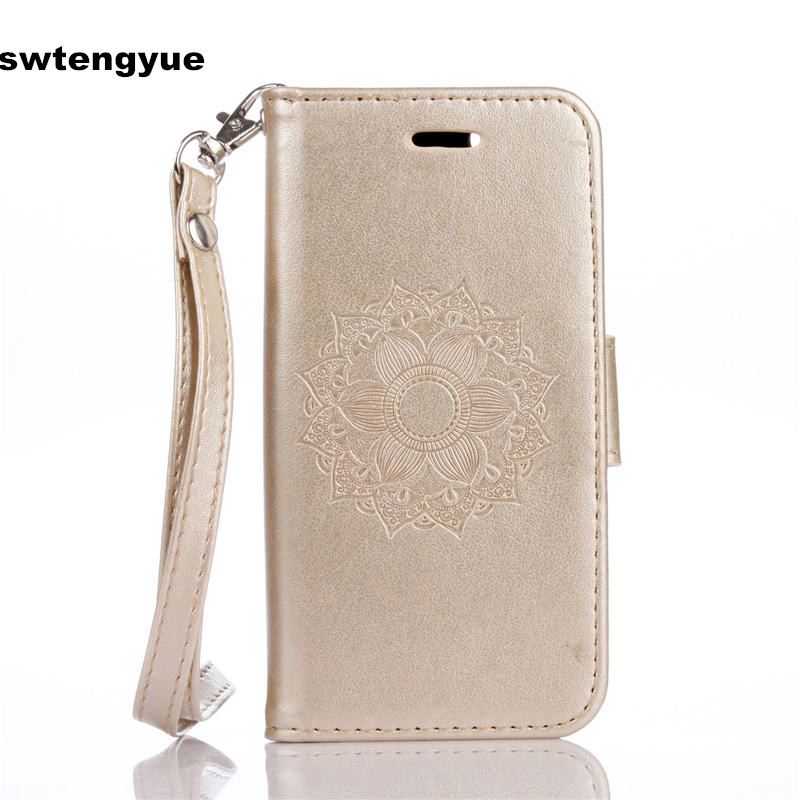 For Coque Apple iPhone 5SE Case Mandala flower luxury PU leather wallet For Fund Apple iPhone 6S Plus 7 Plus flip Cover Card