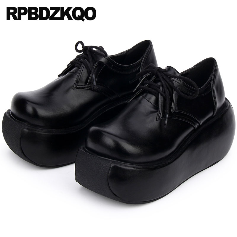 431c427c5 12 44 china creepers high quality women elevator muffin large size wide fit  shoes ladies black 45 thick sole lace up platform 13 - aliexpress.com -  imall. ...