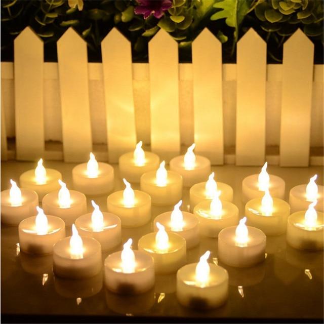 Set of 12 Warm White Flickering decorative-candles ,casamento kaars decoratie Mumlar  bougies decoratives maison