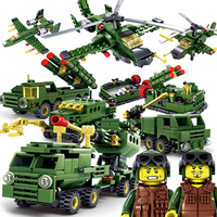 6 In 1 Kazi Military Field Army Model Building Blocks Lepined City Assembling Block Educational Toys For Kids