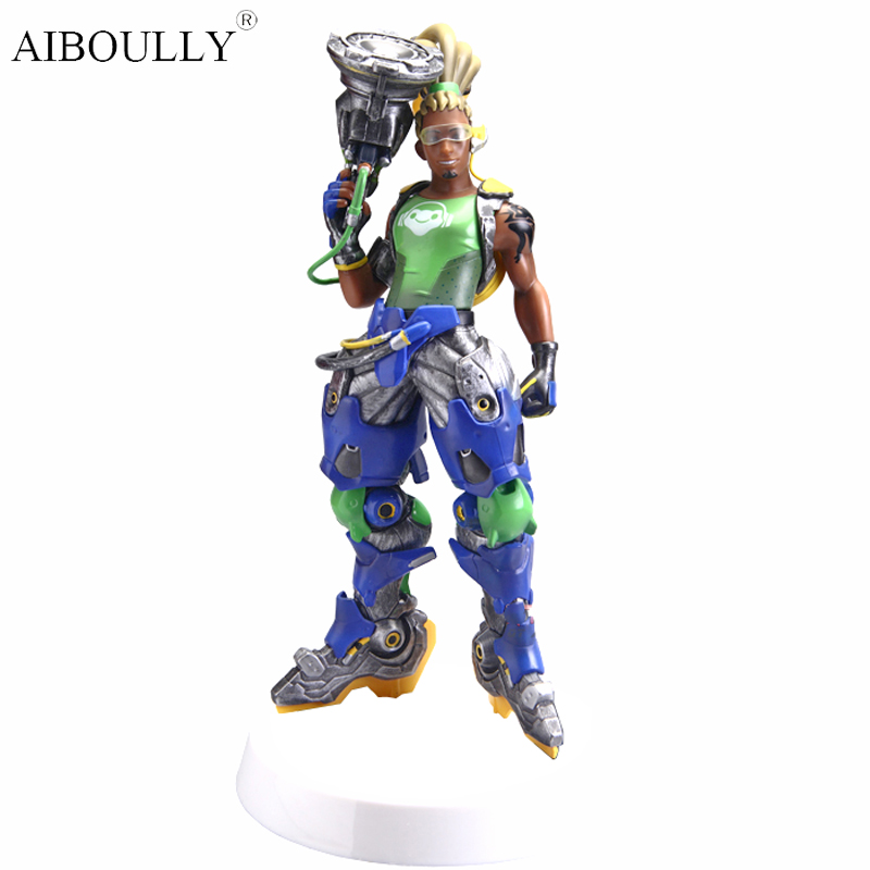 OW Lucio DJ Tracer Widowmaker Reaper Action Figure Model kinderen Speelgoed Geschenken Collectie Tracer PVC 28 CM game saintgi ow tracer widowmaker reaper winston soldier 76 action figure model kids toys gifts collection tracer pvc 25cm game genji