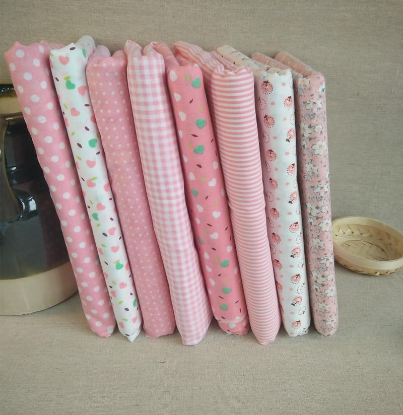 Urijk 8 unids/lote 25*25 cm mixta rosa estampado de flores de impresión diy patc