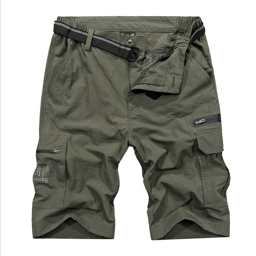 Cargo-Shorts Work Loose Military Army Mens Plus-Size Pockets Tactical Casual with Brand-New