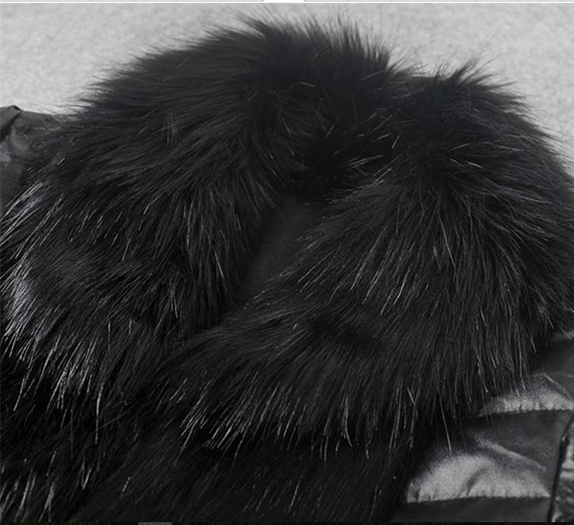 Grands Parkas Cuir Vers Livraison M Nouvelle Ms Manteaux Longue Le Black Mince En Mode Gratuite Herbe Fourrure Chantiers Chaud Bas Manteau Section Fausse 3xl I15qTcwp