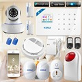2016  W18 2.4G WIFI GSM IOS Android LCD  GSM SMS Home Security Burglar Fire Alarm System IOS/Android APP Control home alarm