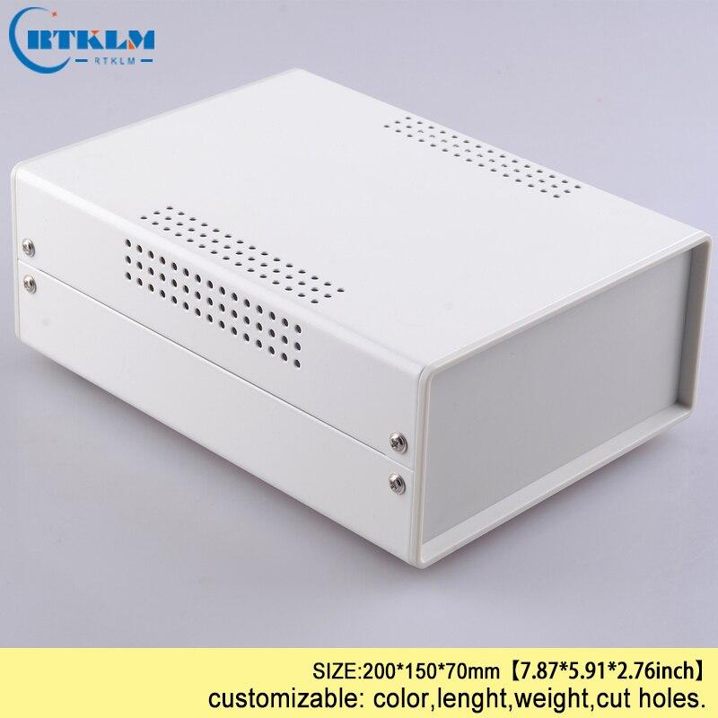 Eisen projekt box gehäuse für elektronik diy draht verbindung box instrument fall kunden desktop gehäuse 200*150*70mm schwarz box