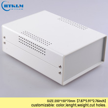 Iron project box housing for electronics diy wire connection box instrument case custom desktop enclosure 200*150*70mm black box стоимость