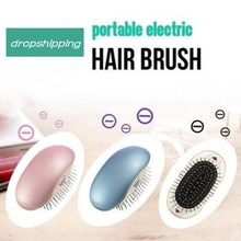 Anti-static Mini Portable Electric Ionic Hair Comb Brush Head Massage Relax Travel Frizz Free Smooth Styling Tools