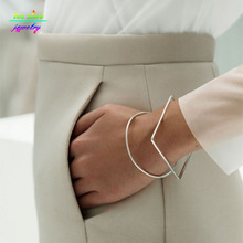 Minimal Modern Jewelry Other Stories Brief Square/Round Geometric Bracelets & Bangles Bijoux