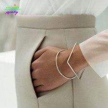 Minimal Modern Jewelry Other Stories Brief Square/Round Geometric Bracelets & Bangles Bijoux