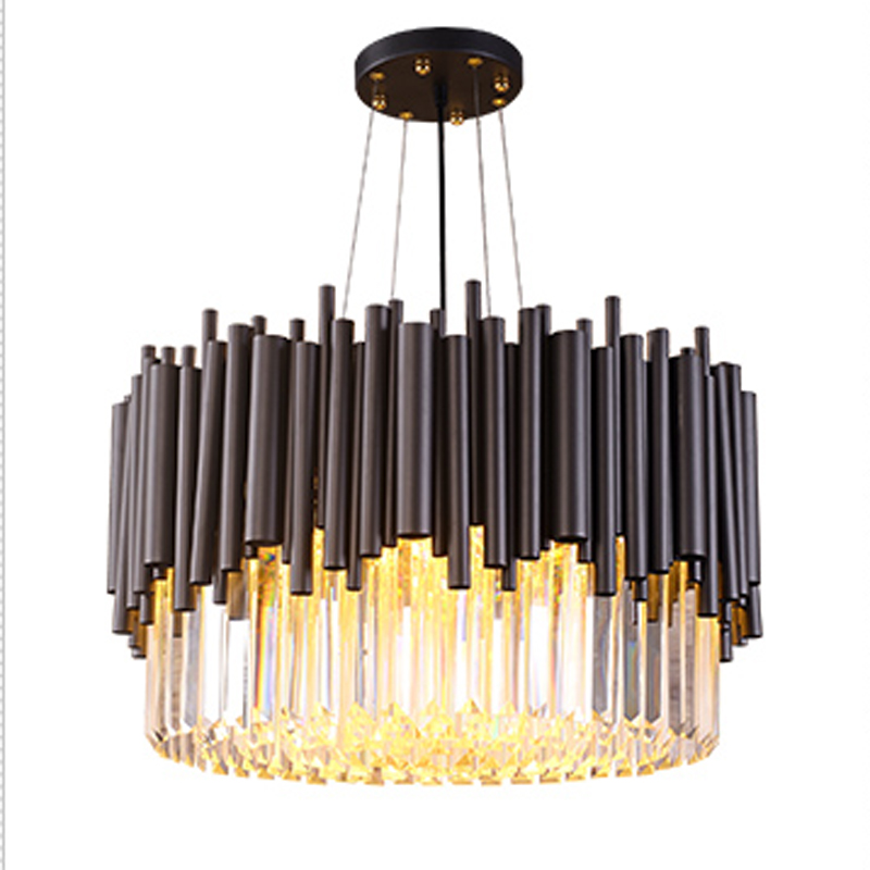 round design luxury crystal chandelier lighting modern dinning room chandelier living room crystal light new design rgb led crystal light modern dinning room crystal chandelier with remote control
