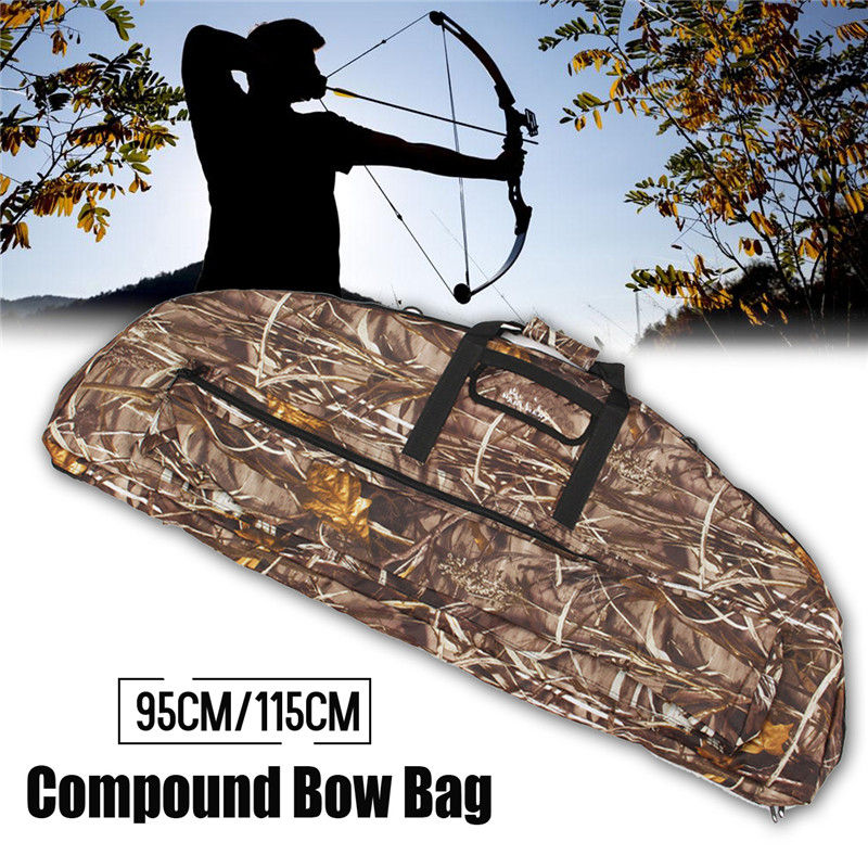 95cm/115cm Compound Bow Bag Waterproof Canvas Large Capacity Archery Package Bow and Arrow Protector Holder Hunting Bags