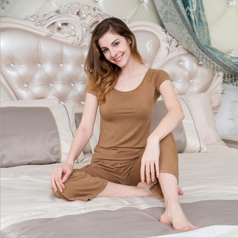 74eea564f 2019 Summer Women Casual Loosen pajamas sets Female Round collar short  sleeve t shirt + pants Ladies Cotton sleepwear suit XL ~ Perfect Deal June  2019