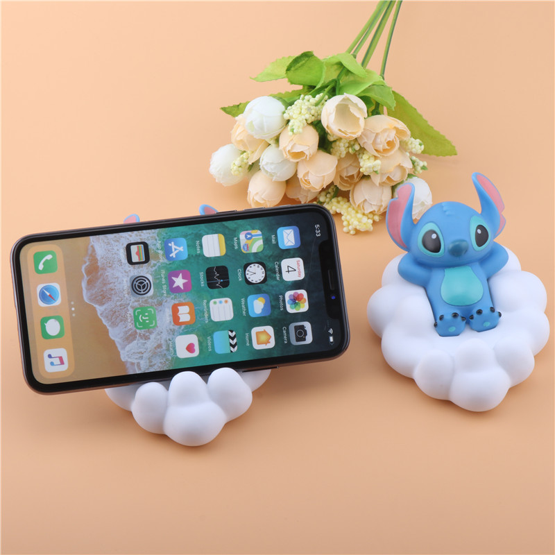 SIANCS Cartoon Cloud Shape Desk Phone Holder Cute Stitch Cute Smartphone Stand Universal For IPhonexs Samsung Tablet Ipad