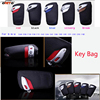 Best Match 1pcs Fashion Car Key Bags Leather Metal Auto Key Bags Auto Key Holder For