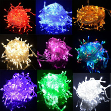 Espow String Light 100 LED 10M Christmas/Wedding/Party Decoration Lights AC 110V 220V outdoor Waterproof led lamp 9 Colors